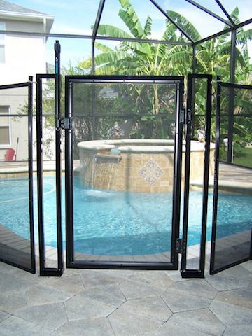 Self Latching Baby Barrier Pool Fence Mid Florida